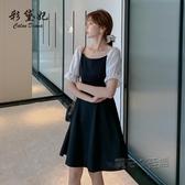 洋裝 新款法式雪紡洋裝2020名媛時尚氣質裙子仙女超仙森系收腰顯瘦夏 中秋節