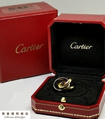 CARTIER 卡地亞 寬版 18K 白K 黃K 玫瑰金 三色 750 三環戒8.8成新 戒圍 48號 二手名品