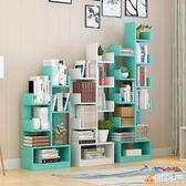簡易書架 收納置物架簡約 實木多層落地兒童桌上學生書櫃雅楓居