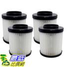 [106美國直購] 4 Highly Durable Washable & Reusable Dirt Devil Style F22/F26 Filters 1LV1110000