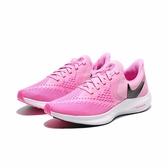 NIKE ZOOM WINFLO 6 粉紅網 黑logo 訓練 輕量 慢跑 女(布魯克林) 2019/6月 AQ8228-600