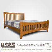 ♥日木家居 Anthea亞西亞雙人5尺實木床台/床架 SW8035 床架 雙人床