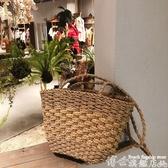 熱賣草編包手工草編包側背編織包女文藝手提包草包小包包泰國度假復古沙灘包