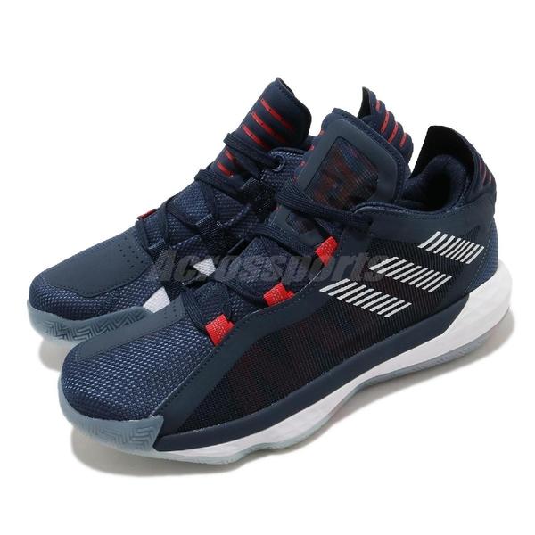adidas 籃球鞋 Dame 6 GCA 藍 白 男鞋 USA 美國隊 Damian Lillard 運動鞋【ACS】 FY0871