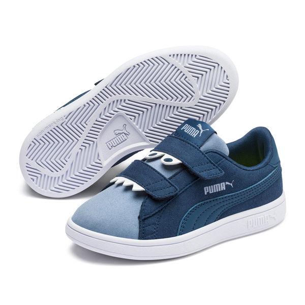 Puma Smash v2 童鞋 水藍 運動童鞋 運動鞋 麂皮 健身 兒童 運動 鞋子 魔術帶 36968003