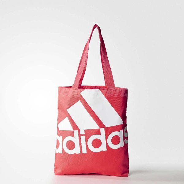 adidas 托特包 Shopper Bag 粉紅 白 肩背包 購物袋 女款 【PUMP306】 AY5413