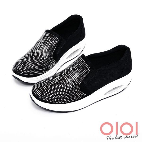 搖搖鞋 星光鑽飾氣墊搖搖鞋(黑)*0101shoes【18-617bk】【現貨】