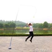 羽毛球訓練器便攜一個人的羽毛球單人打回彈練習自回旋輔助器 多色小屋YXS