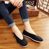 男士老北京布鞋 手工千層底經典元口功夫灑鞋休閒鞋單鞋黑布鞋