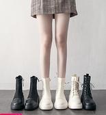 馬丁靴女潮ins英倫風新款瘦瘦鞋春秋單靴夏季薄款厚底短靴子