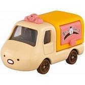 小禮堂 TOMICA多美小汽車 角落生物 造型小貨車 食物攤車 玩具車 模型車 (棕 豬排) 4904810-17166