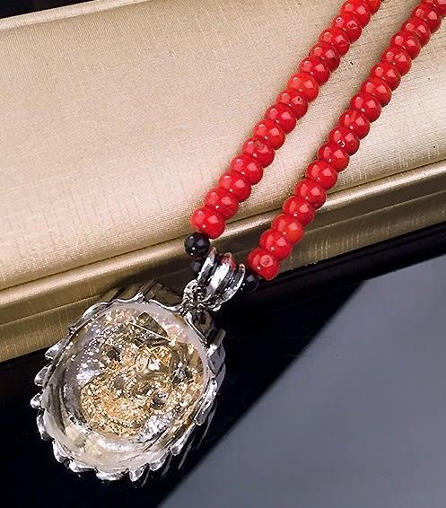 [協貿國際]天然紅瑪瑙佛牌項鍊單條價