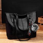 托特包 2018夏季新款托特女包休閒單肩包簡約大包包大容量女士時尚手提包 雙11狂歡購物節