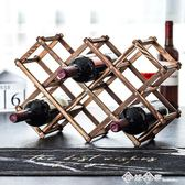 歐式實木紅酒架擺件創意葡萄酒架實木展示架家用酒瓶架客廳酒架子 西城故事