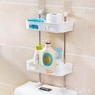 馬桶置物架 吸壁式洗漱臺壁掛廁所洗手臺收納衛生間置物架 BF22668【棉花糖伊人】