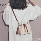 流蘇包 法國質感流行的包包女2021新款潮網紅時尚水桶包女韓版百搭斜背包  【618 大促】