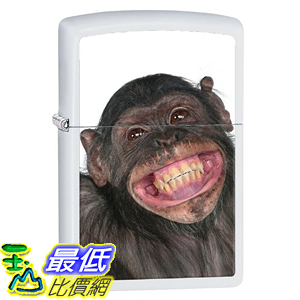 [美國直購] Zippo B00IF5RFSW Animal Lighters White Matte Monkey 打火機