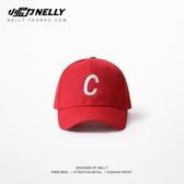 高爾夫帽遮陽鴨舌帽高爾夫球帽棒球可調節美式風帽子紅色嘻哈滑板死飛 非凡小鋪