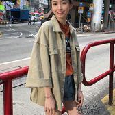 秋裝港味牛仔外套女寬鬆bf風韓版學生百搭上衣休閒大碼夾克潮春秋 街頭布衣