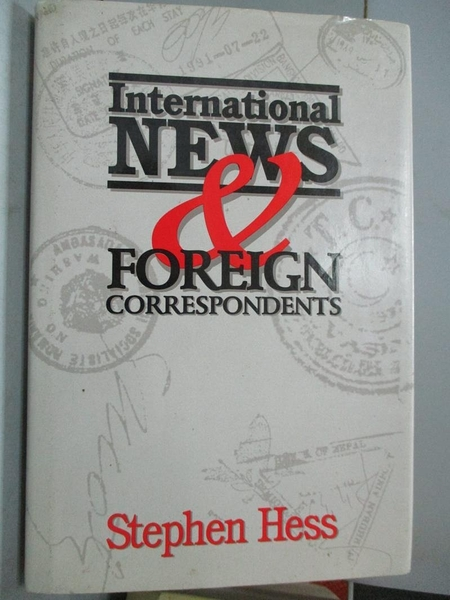 【書寶二手書T4/社會_QGS】International News & Foreign Correspondents_