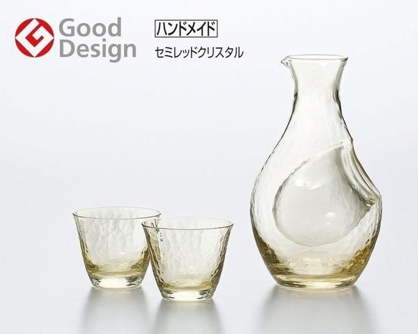 日本製 高瀨川 琥珀 冷酒壺 清酒杯組