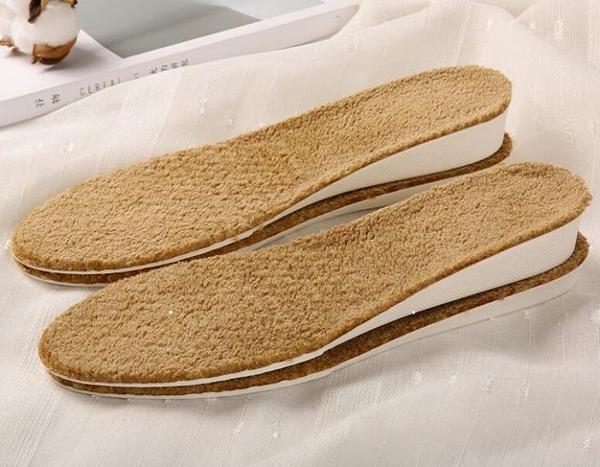 增高鞋墊 加厚羊毛保暖內增高鞋墊馬丁靴加絨男女吸汗防臭冬季舒適軟【快速出貨好康8折】