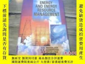 二手書博民逛書店energy罕見and energy resource mana