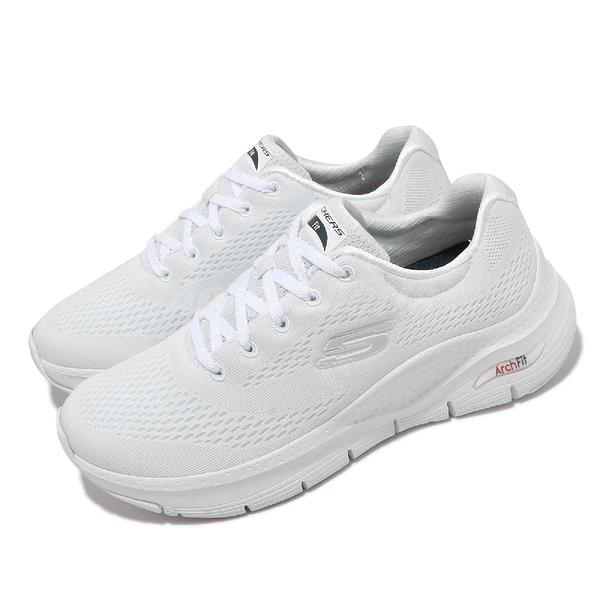 Skechers 健走鞋 Arch Fit Big Appeal 女鞋 全白 足科醫師推薦 運動鞋【ACS】 149057WNVR