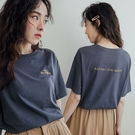 現貨-MIUSTAR CROSSROAD正反配色刺繡標語棉質上衣(共3色)【NJ0997】