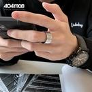 情侶戒指 404MOB情侶戒指鈦鋼合金LOGO嘻哈朋克街頭個性潮牌寬窄版男女指環