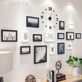 時鐘相框個性掛鐘臥室墻上時鐘裝飾現代北歐餐廳家用靜音掛錶相框igo 【創時代3c館】