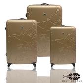 行李箱28+24+20吋 ABS材質 地圖系列【Just Beetle】