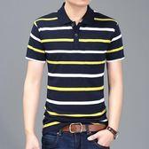 男士時尚條紋polo衫