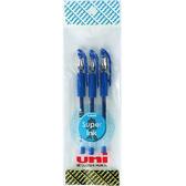 三菱中性筆-0.38mm3入(藍色)【愛買】