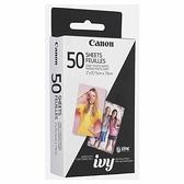 Canon ZINK相片貼紙 50張 適用IVY CLIQ+ / CLIQ+2 [2美國直購]