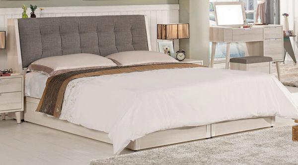 【森可家居】愛莎6尺被櫥式雙人床(置物床頭+床底) 7CM065-1 不含床墊 雙人加大