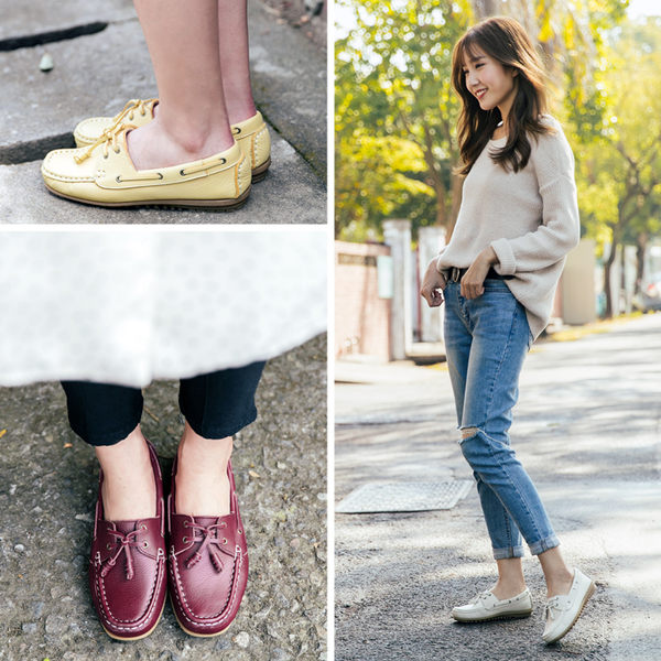 不怕水。森林女孩手縫氣墊鞋。波波娜拉-Bubble Nara~難得一見超修飾,美型好搭100分,可水洗皮革