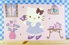 【震撼精品百貨】Hello Kitty 凱蒂貓~kitty大卡片~粉鳥紫
