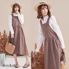 文藝棉麻吊帶裙(2色)-F【慢。生活】