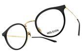 MOLSION 光學眼鏡 MJ6073 B10 (黑-金) Angelababy代言 摩登貓眼圓框款 眼鏡框 #金橘眼鏡