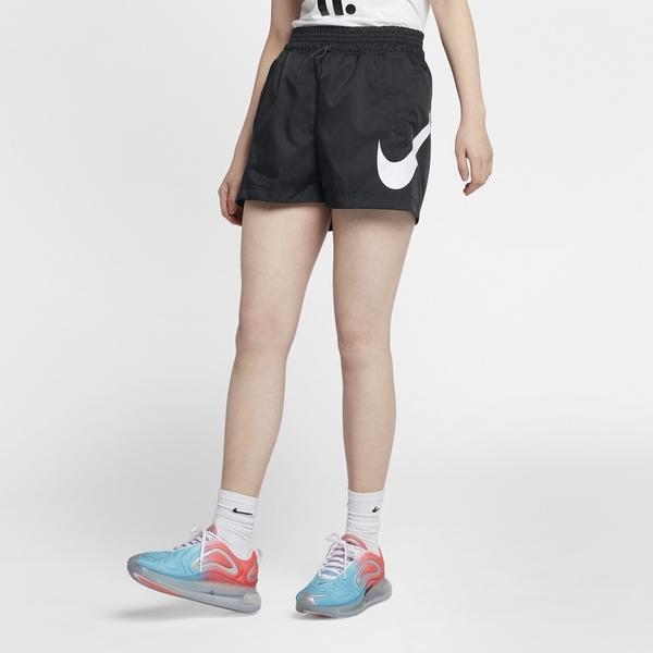 NIKE SPORTSWEAR SWOOSH 女裝 短褲 慢跑 訓練 梭織 透氣 黑 【運動世界】 AR3015-010