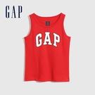 Gap男幼童 布萊納系列 Logo純棉運動背心 698319-紅色