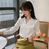 雪紡衫韓版女656秋長袖女士上衣韓版職業雪紡衫百搭襯衫ZLE238紅粉佳人