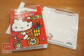 Hello Kitty PP板夾附信紙 (腳踏車)