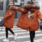 2019冬新款孕婦裝棉衣女中長款大碼加厚大衣外套韓版寬鬆懷孕棉襖