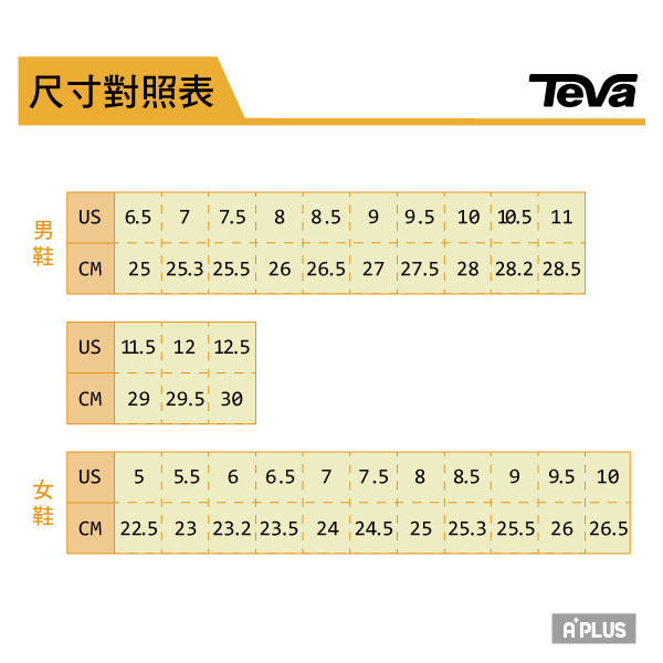 TEVA 女 涼拖 - 1008844BRWH