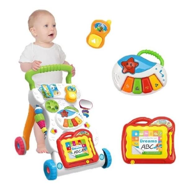 全館83折跨境英文學步車多功能寶寶手推車助步車嬰兒防側翻學走路兒童