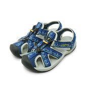 LIKA夢 GOOD YEAR 專業戶外踏青旅遊護趾運動涼鞋 藍灰黑 73606 男