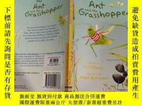 二手書博民逛書店the罕見ant and the grsasshopper 螞蟻和聖誕老人Y200392