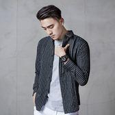 粗直條長袖襯衫【CGOD-S69】(ROVOLETA)